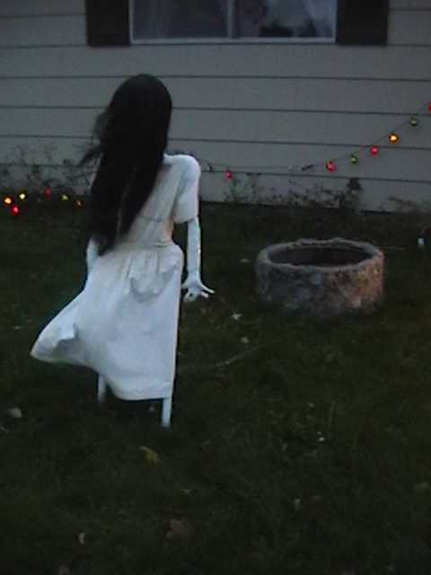 The Ring Girl Samara Tutorial Frugal Frights and Delights - Scary Halloween Indoor Decorations