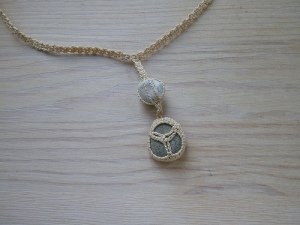 A crochet necklace is a simple idea, but can hold a lot of meaning for a mom. Image courtesy of FlickrCC The Connected One N07@616490624/8536261.