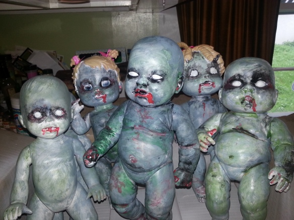 "Baby dolls ""transformed"" into the walking dead. Image copyrighted, all rights reserved, Debbie Morrow"