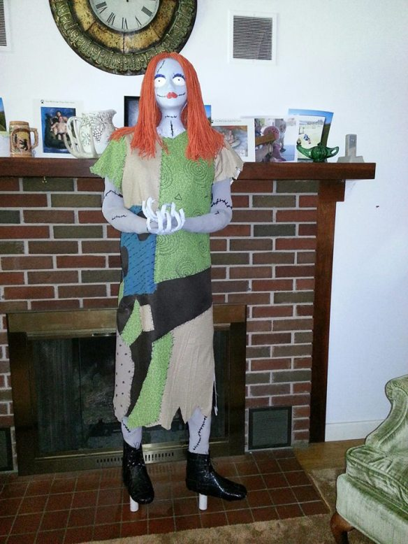 Just completed prop of Sally (Nightmare Before Christmas). Image CC All Rights Reserved, Debbie Morrow