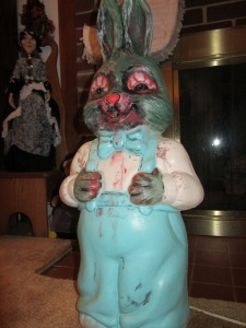 This zombie bunny looks thirsty. Image courtesy of Debbie Morrow. All rights reserved.