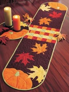 It's easier to make than you think: A Fall table runner and placemats. Image courtesy of shopfonsandporter.com