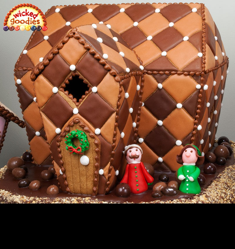 Make gingerbread houses without gingerbread frugal for How do you make a gingerbread house