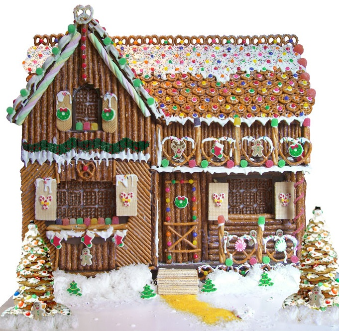Make gingerbread houses without gingerbread frugal frights and pretzels work great for building a gingerbread house image courtesy of the pretzel solutioingenieria Images