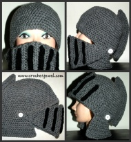 Let your knight in shining armor really shine in this crochet hat at http://crochetjewel.com/?p=6930