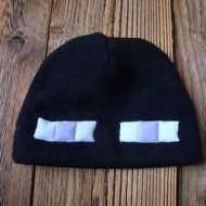 Dollar store black hats can easily be transformed into Enderman or Creepers. The same can technique can be used for towels. Image courtesy of Pie Popper on Instructables.com