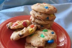 Any candy can be added to a cookie. Image courtesy of Parsley on Food.com's recipe M & M cookies.