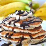 Chop up chocolate for this Chunky Monkey Pancake recipe. Image courtesy of CC loves 2 bake at Allrecipes.com