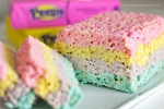 Rice treats are just as tasty with Peeps. Image and recipe at yellowblissroad.com