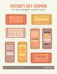 Make a chore coupon book. Image courtesy of brightnest.com