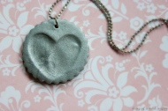 Make a fingerprint clay necklace Image/directions: diaryofamadcrafter.wordpress.com