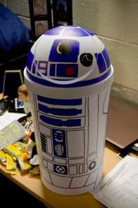 Make your own R2D2 trash can. Image courtesy of Melissa Anosal.
