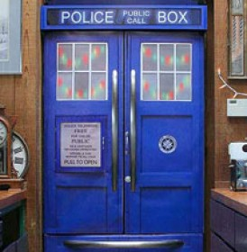 A refrigerator transformed into a Tardis. Image courtesy of bitrebels.com