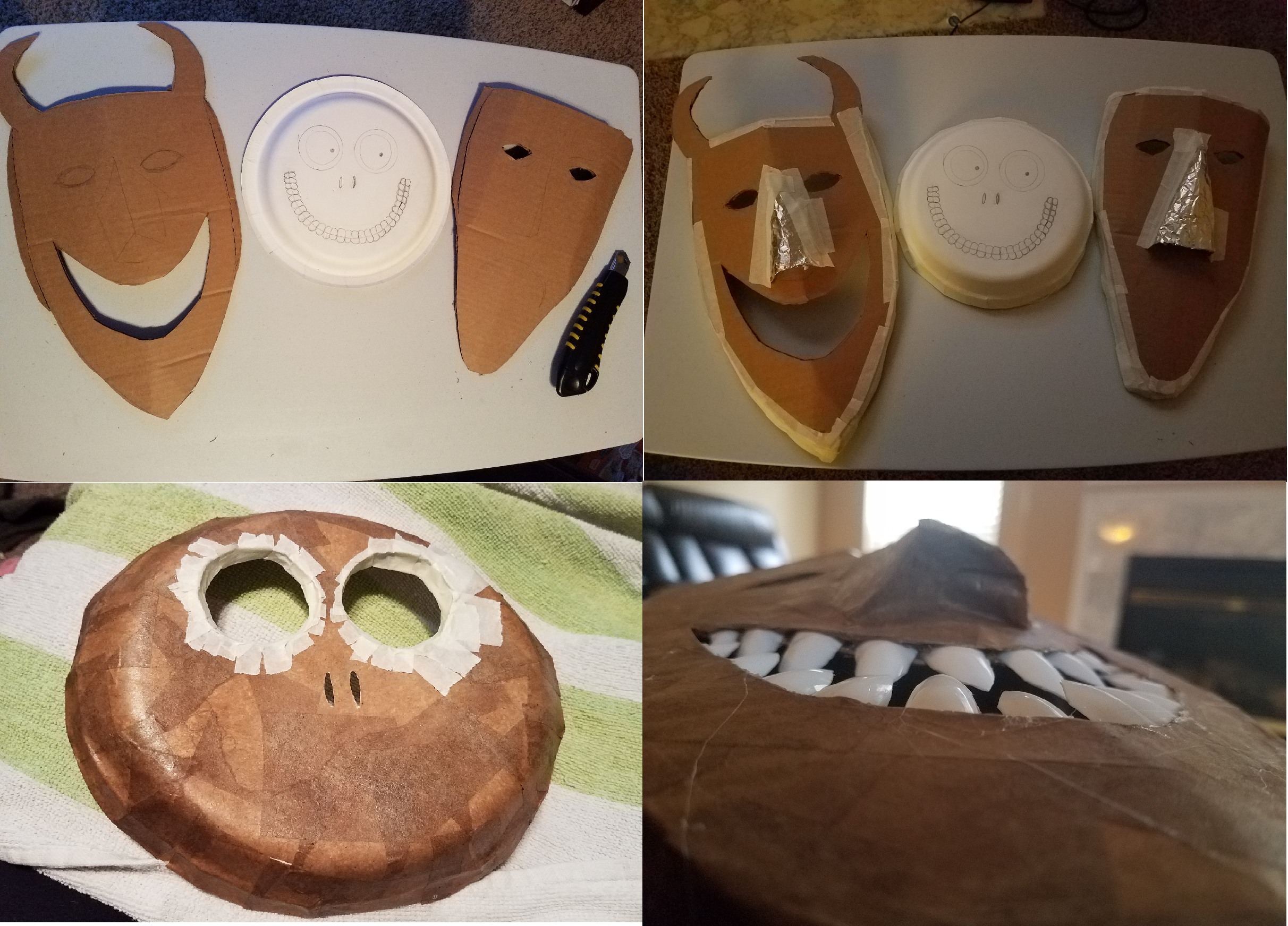 ... Shock masks are bent to begin shaping. Aluminum foil/scraps of cardboard are used for noses. Eye buildup is done in Barrel after first layer of paper ... & Lock Shock and Barrel Join The Nightmare Before Christmas Clan ...